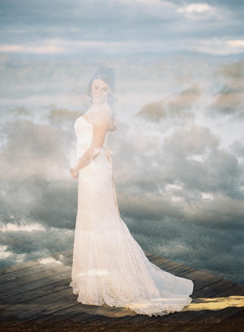 double exposure bride